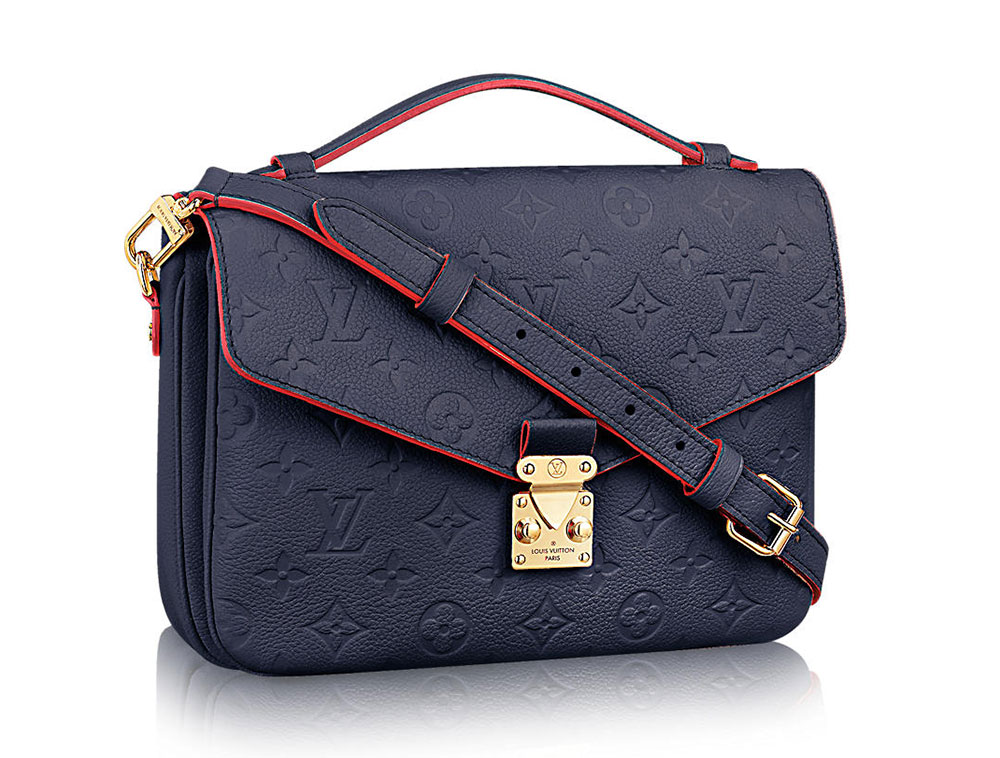 Морско Синя Louis Vuitton Pochette Metis Bag